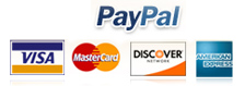Pay Pal logo and Card pictures in box